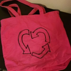 Pink Recycling Love tote
